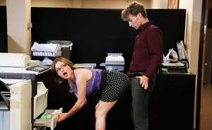 Large titted Krissy Lynn sucking  fucking Michael Vegas at the office