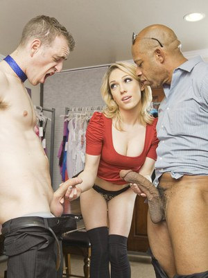Blond cock craving tart Lily Labeau is ready for some punishment deep inside her tight aching pussy. Shane spread her cheeks and tongue fucked her sweet pink and then stuffed every inch of sausage balls deep. All along her friend stroked to Shane's trombo