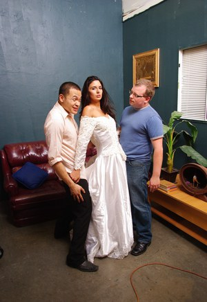 Non nude bride Nikki Daniels flashing upskirt panties in wedding dress