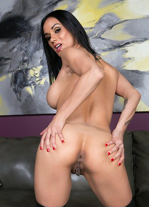 Tattooed Latina Nadia Styles Leaves the Stockings on While Orgasming