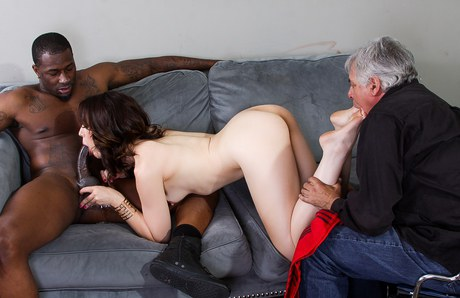 Terrific Mom facesitting & absorbed big-black-prick in arse licking interracial groupsex
