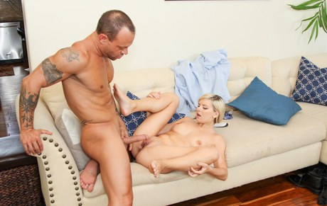 Blond-haired Alessandra Noir sucking piston & riding cowgirl in ardent reality mating