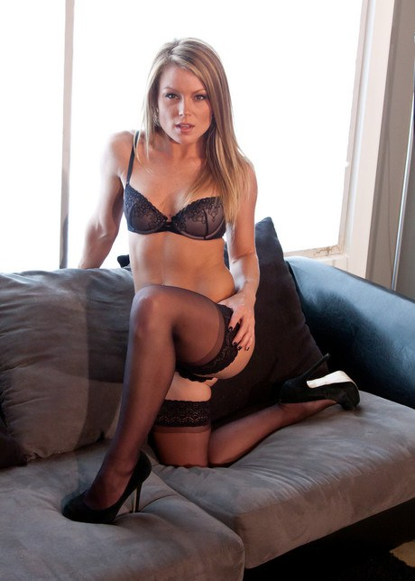 Lovely Milf beauty Satiate Madden teases in her captivating dusky lingerie