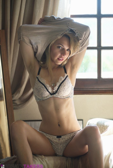 Luxurious ash-blonde wife Chloe Vibrator eliminates her undies to model unclothed