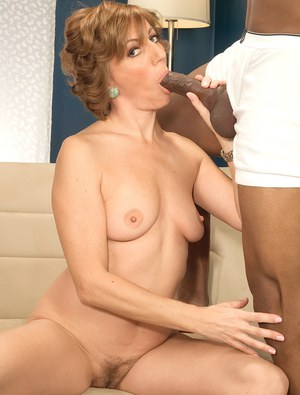Mature lady rides a BBC after seducing its owner with a panty flash