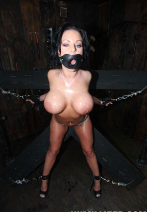 Bound & gagged Kerry Louise forced to drink tons of cum in rough BDSM session