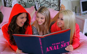 Young Nina and her friends explore their sexuality and enjoy anal fingering
