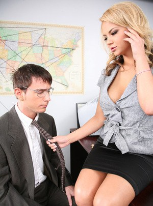 Busty chicks can't gt enough sex at home that thy have to fuck at work too