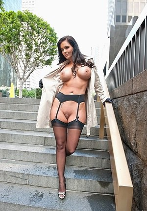Busty chick Phoenix Marie seduces a student after a bout of public flashing