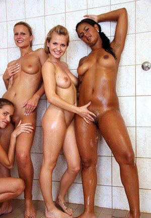 shower Girls team naked in