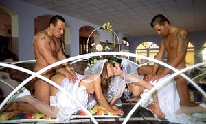 Double wedding ceremony leads to wife swapping for these swinging couples