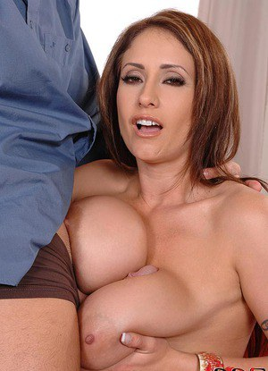 Older MILF Eva Notty lets huge saggy boobs free for hardcore tit fucking