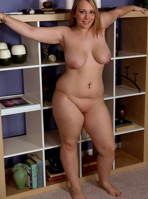 Sexy fatty Brandi Sparks tries to get laid by stripping to show her flabby bod