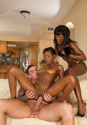 2 Thick Ebony Threesome