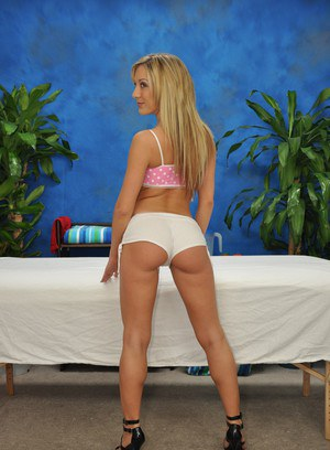 18 year old masseuse Amy goes for a ride on her clients hard shaft
