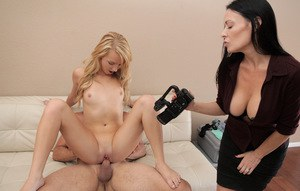 Carmen Callaway & Vanilla Deville have a kinky threesome for a porn audition