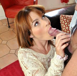 Natural redhead in over the knees socks lets an old man fuck her tight pussy