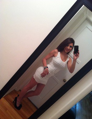 Naughty amateur takes naked selfies to send to a boy she wants to seduce