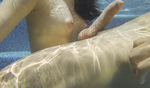 Hot Natalie Heart getting fucked in the pool and showing her puff cameltoe