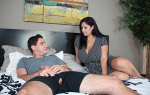 Big boobed stepmom has had her eye on her stepsons big dick for some time now