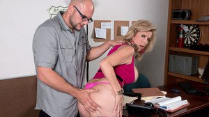 Sexy older woman Laura Layne tit fucks her mechanic as a valid payment method