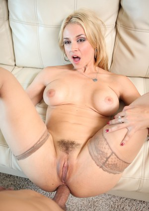 Gorgeous blonde Sarah Vandella gets her hot ass fucked doggystyle in stockings