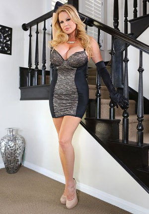 Elegant older Kelly Madison with big tits bare wildly fucking in the foyer