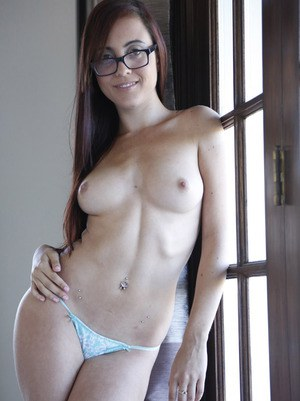 Young nerd Roxanne Rae fucks a BBC while her stepdad watches her