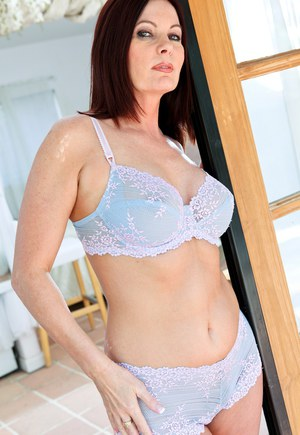 Hot older lady Magdalene St Michaels welcomes her lover in her bra and panties