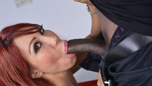Busty redhead Ava Devine gets ass fucked by her doctor's big black cock
