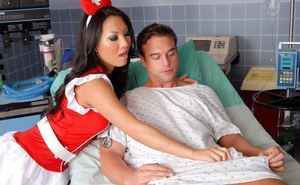 Hot Asian nurse gives patient anal fucking & orgasm treatment for good health
