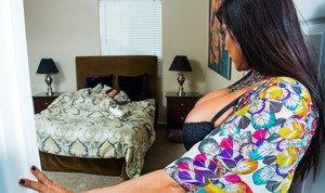Sheila Marie's son's friend is spending a few days with them. Her son takes off for a bit to get his car fixed and her son's friend takes a nap. Sheila decides it's the perfect time to make her move. She sneaks into bed with her son&#0