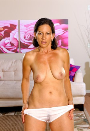 Older ladies Melissa Monet and Wendy Breeze model white underwear together