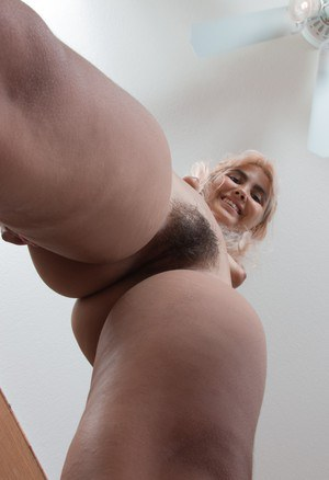 Amateur Candy Wallace has puffy nipples and a whole lot of hairy pussy
