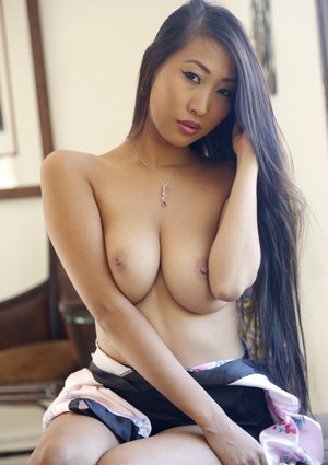 Asian beauty Sharon Lee serves her delicious pussy to a big dick man