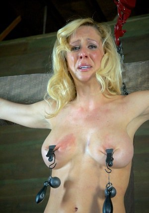 Blonde females are brought to tears while being tortured in a dungeon