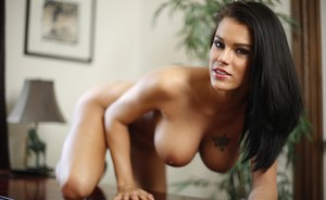 Busty hot wife Peta Jensen rides cowgirl & gets cum on bouncing big tits