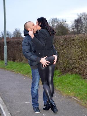 Amateur MILF Lara Latex bangs a younger guy in over the knee boots and nylons