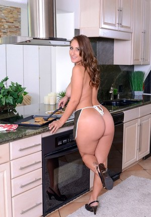 Naked MILF seduces the boy next door with fresh baked cookies and big tits