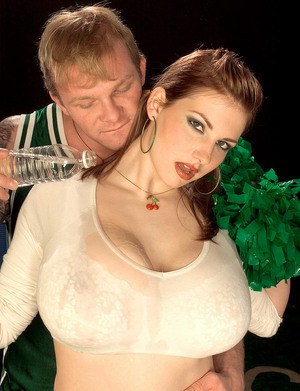 Big titted Christy Marks rides cowgirl  gives POV titjob with her huge melons