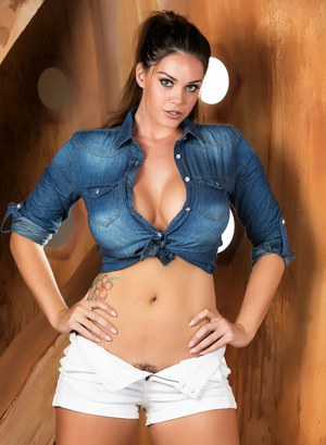 Solo girl Alison Tyler peels off her Dallas Cowboy cheerleader inspired outfit