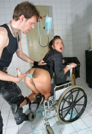 European freak Susanne undergoes filthy anal games in a wheelchair