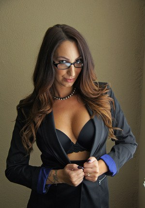 Sexy mature in glasses  tight skirt flashing big breasts  hot ass outside