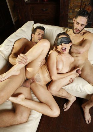 blindfolded threesome