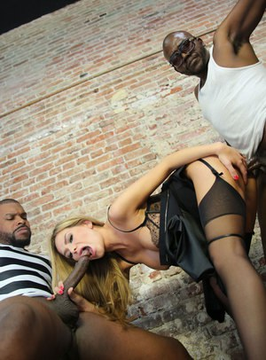 Female lawyer Subil Arch gets double fucked by two black inmates