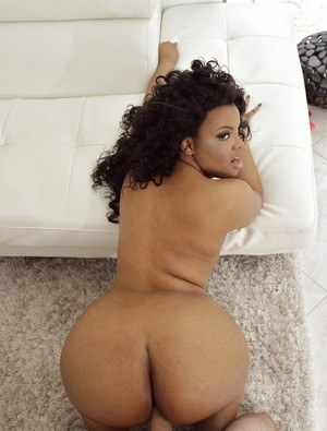 Phat ass chubby mature ebony in thong fucks doggystyle & gets covered in cum