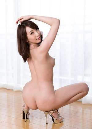 Japanese lesbians show off their naked bodies in sensible heels
