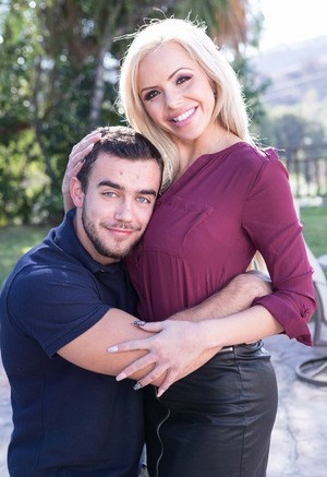 Blonde cougar Nina Elle seduces and fucks her stepson in an act of revenge
