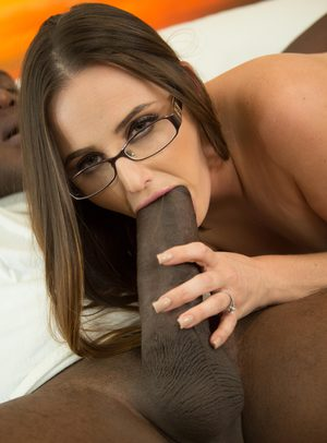 Nerdy girl Hope Howell goes for a job interview and ends up fucking a BBC