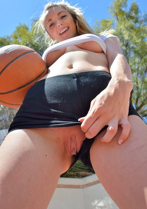 Teen cutie cant keep her clothes on while playing sports or from masturbating